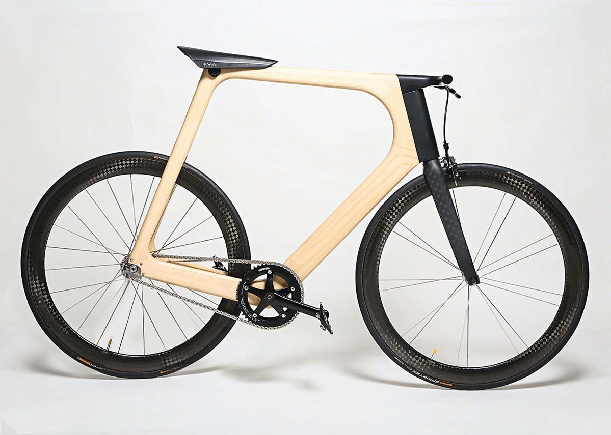 Timber and technology combine in the Arvak bike.