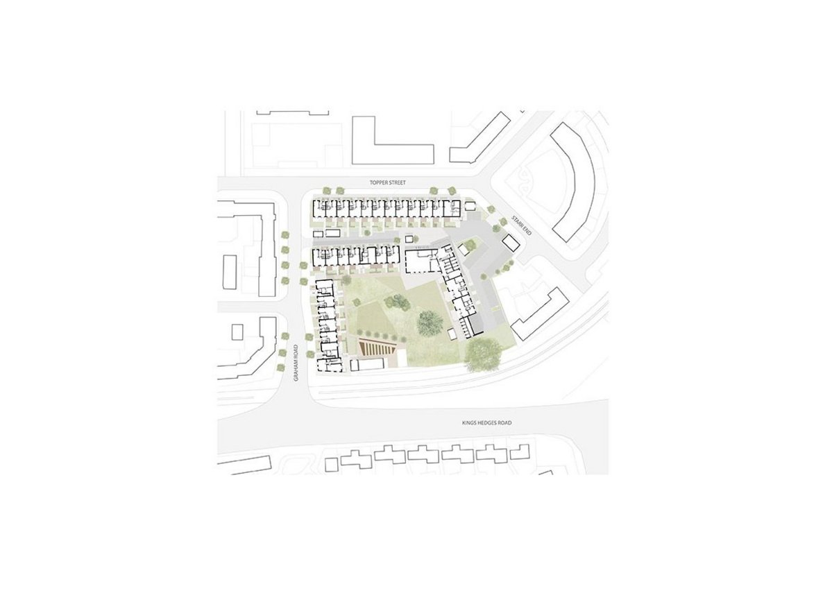 Site plan of Marmalade Lane by Mole Architects.