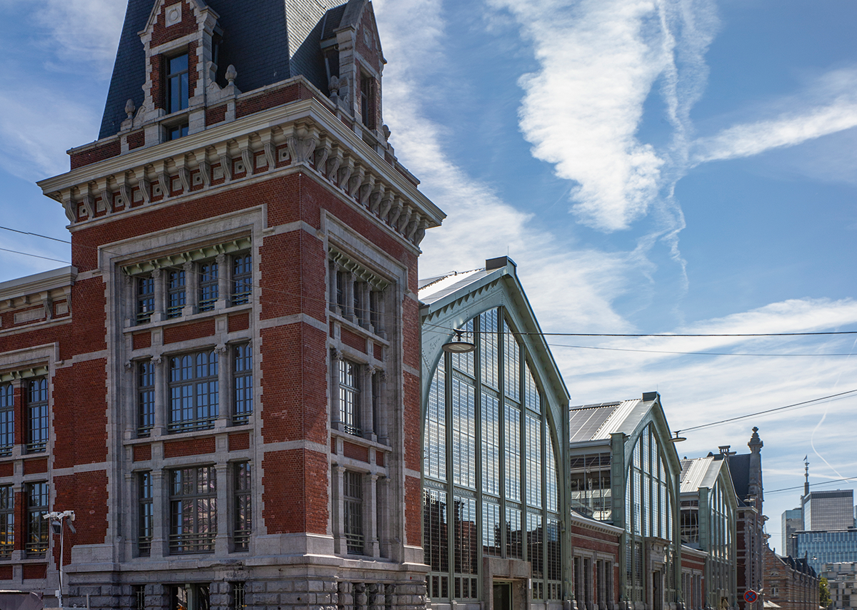 Gare Maritime's iron sheds are bookended between its grand Beaux-Arts halls and offices.