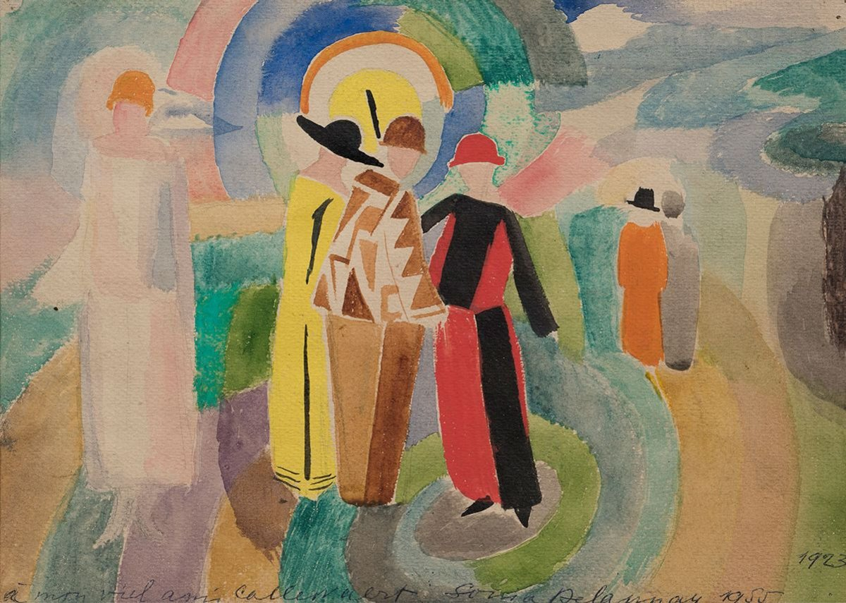 Sonia Delaunay, Stroll, 1923, Collection of V. Tsarenkov