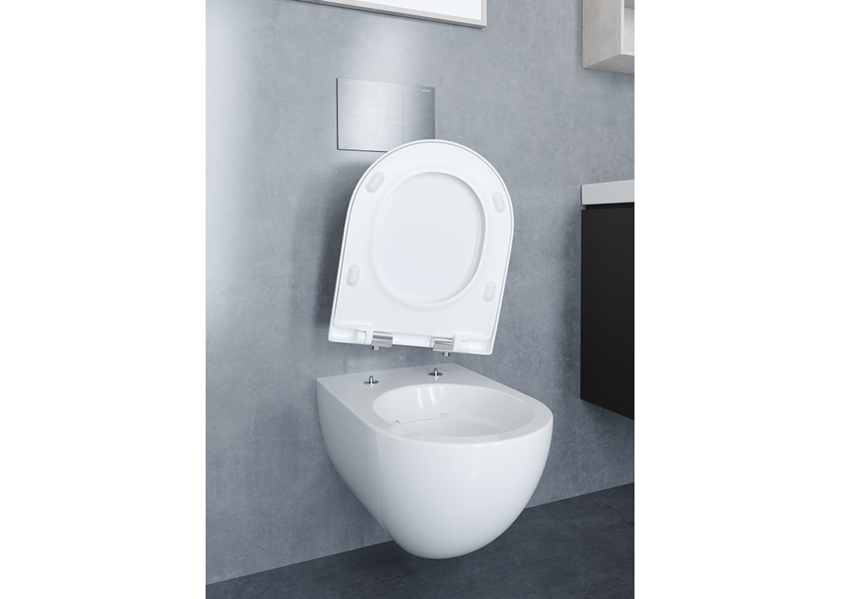 Easier cleaning and reduced maintenance with Geberit QuickRelease toilet seats.