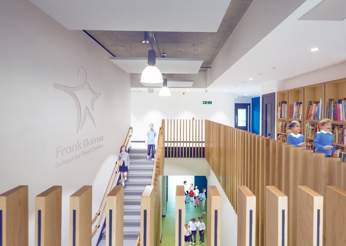 Atrium of Frank Barnes School for the Deaf.
