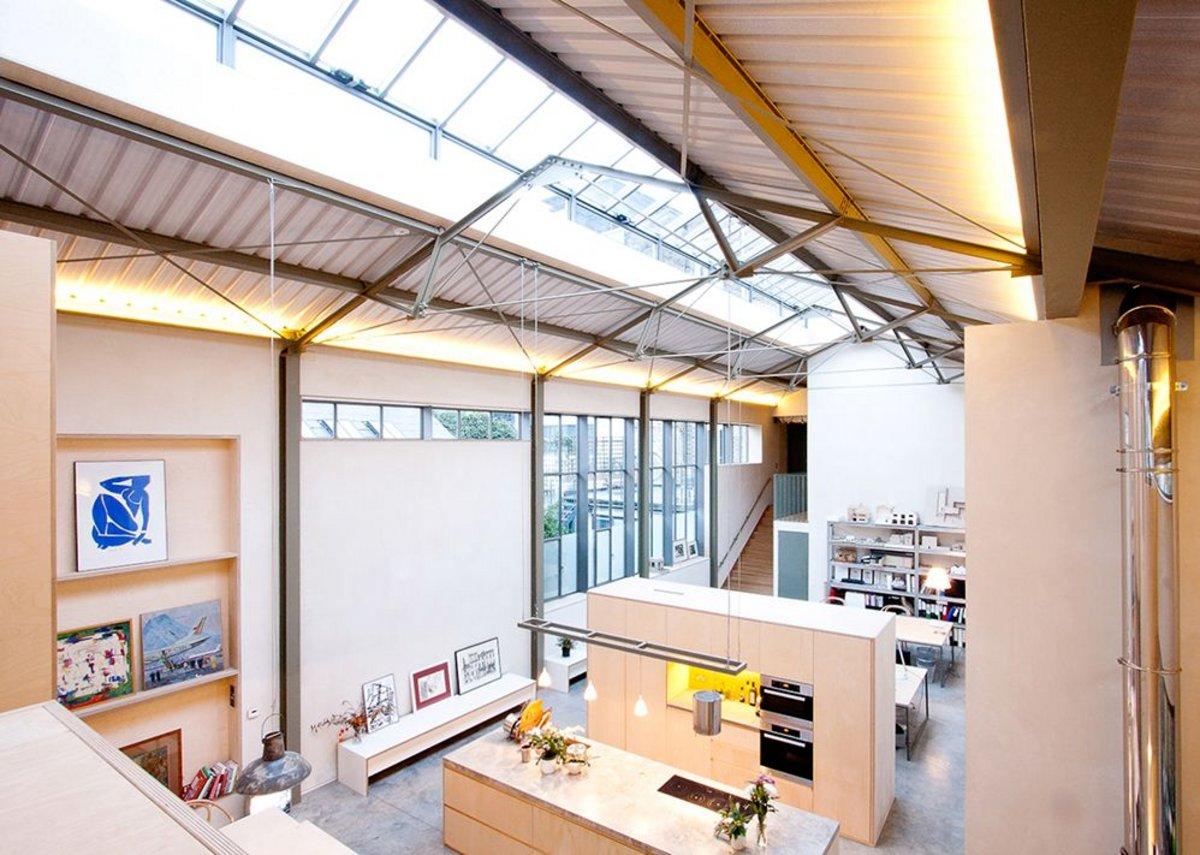 Workshop interior space