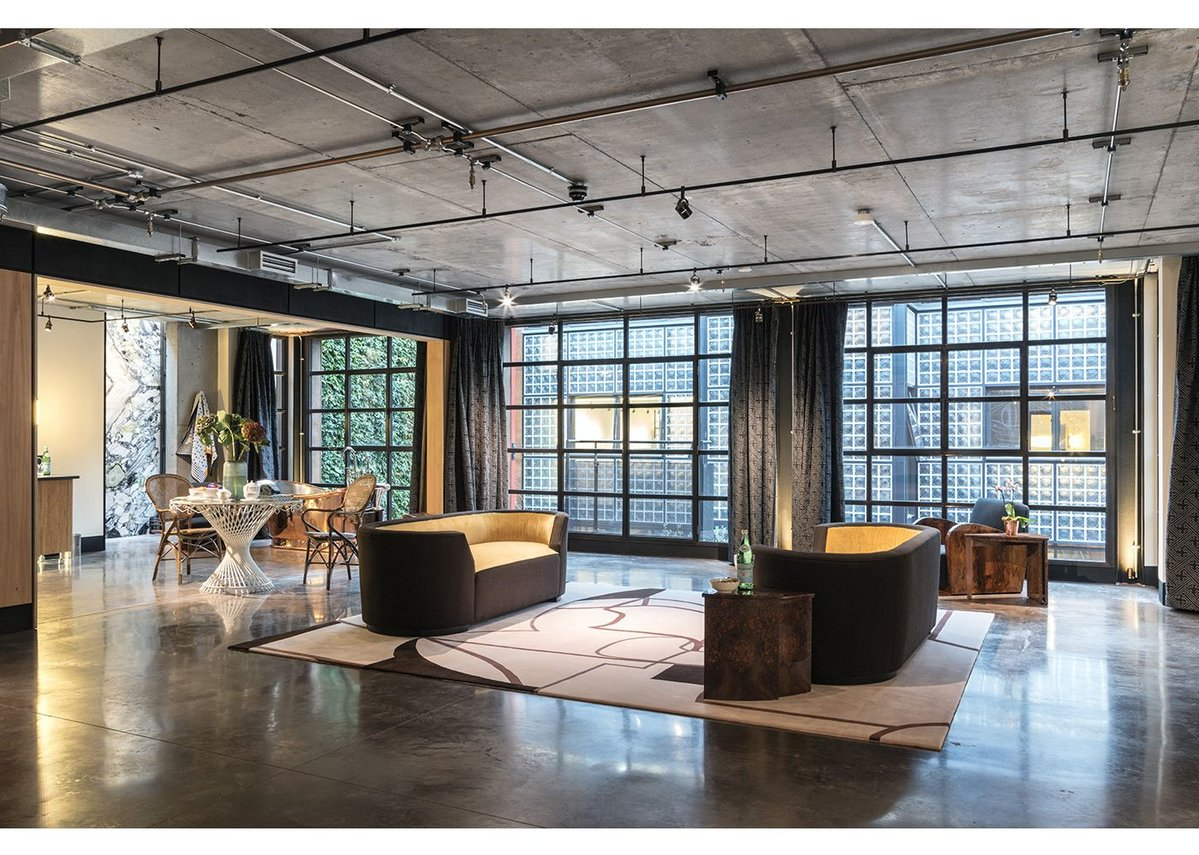 Industrial luxury is the style of the residential interiors.