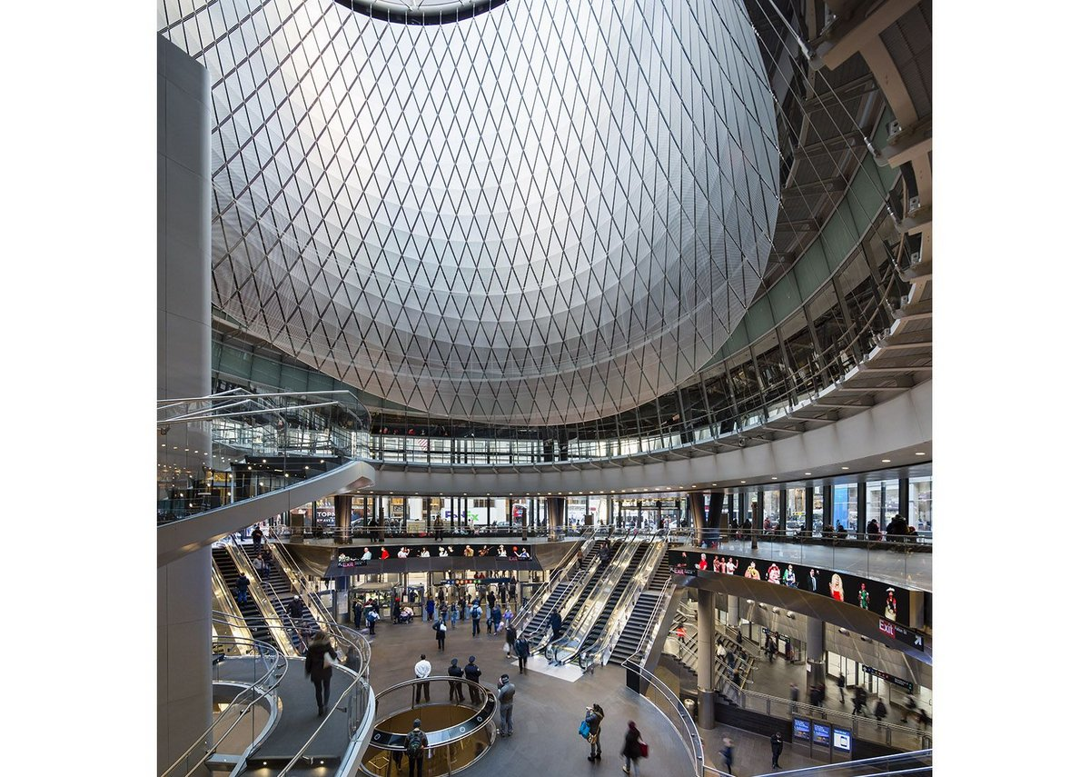 The living daylights: the oculus imparts a sense of grandeur that goes beyond mere function.