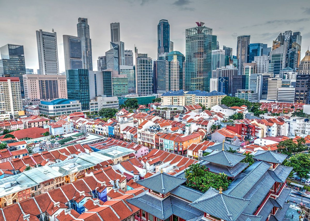 Old and new cities, Singapore.