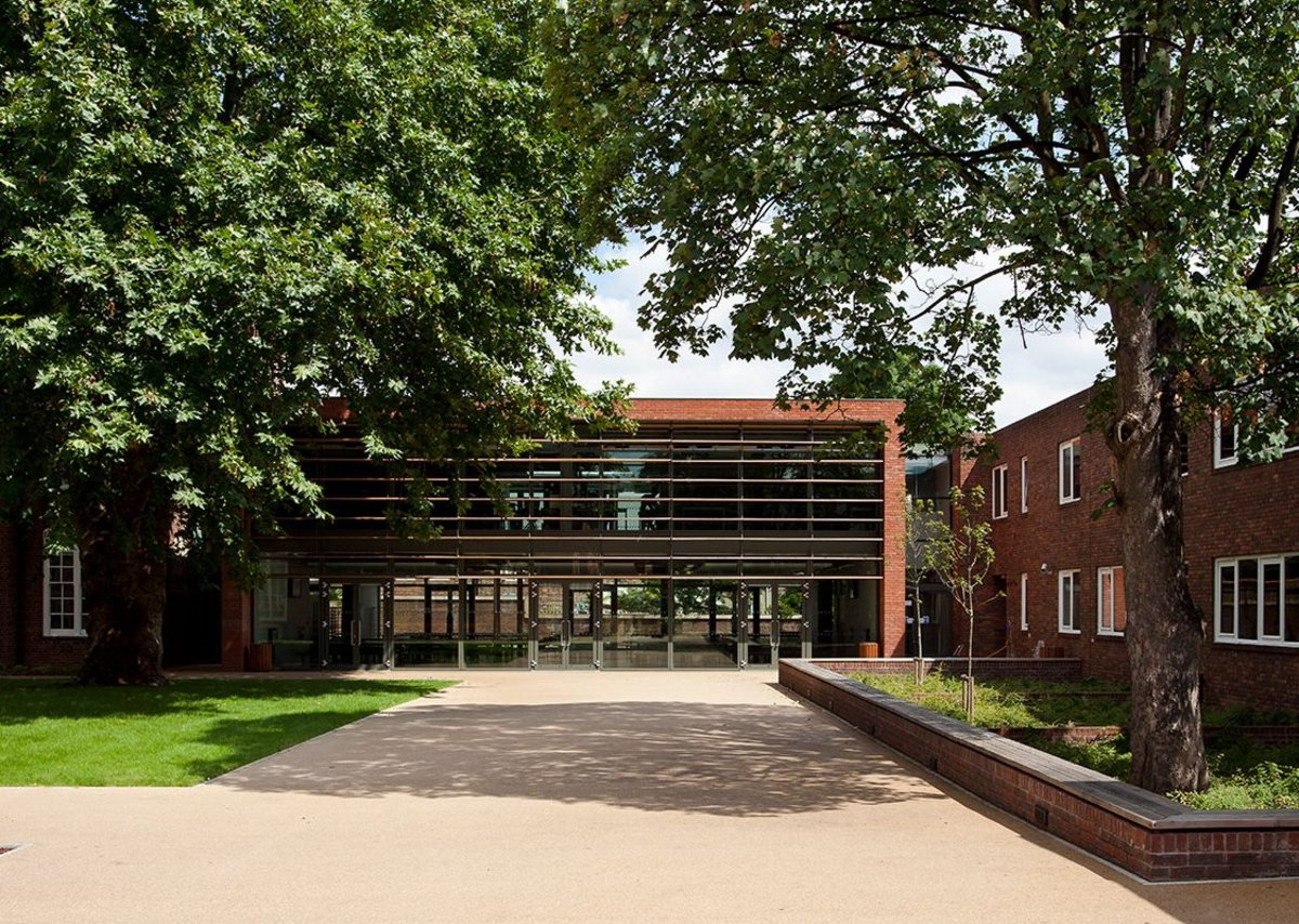 Clapton Girls' Academy, Hackney – sensitive new interventions between existing locally-listed buildings.