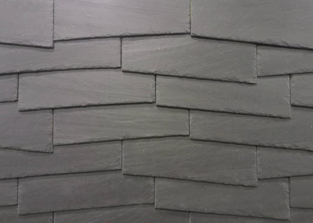 Cupaclad Offset: using slate in architecture has endless design possibilities. It can be used to cover any shape of facade or roof, allowing builders to incorporate intricacies in their design impossible in other materials.
