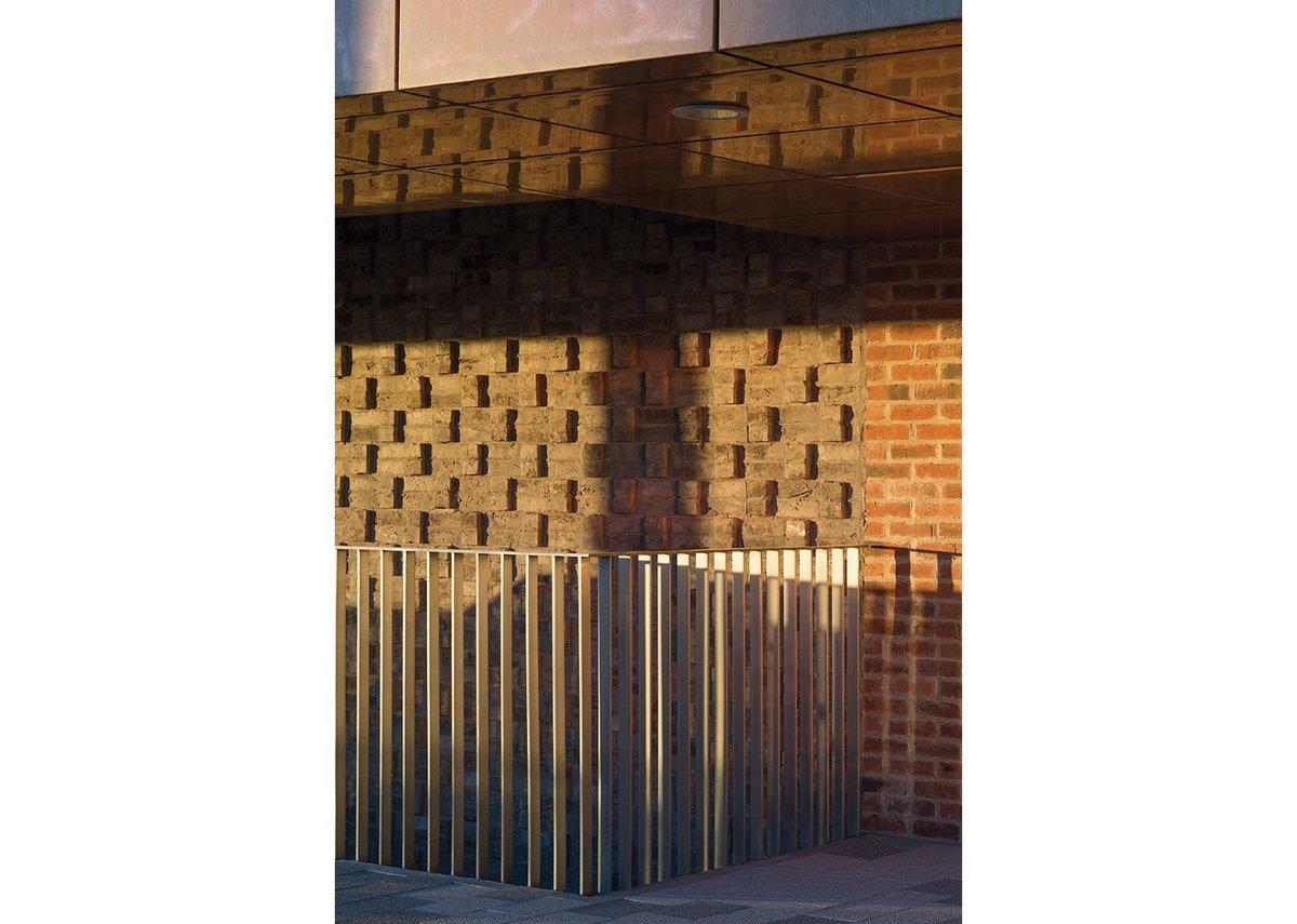 Detail of brickwork in teaching block.