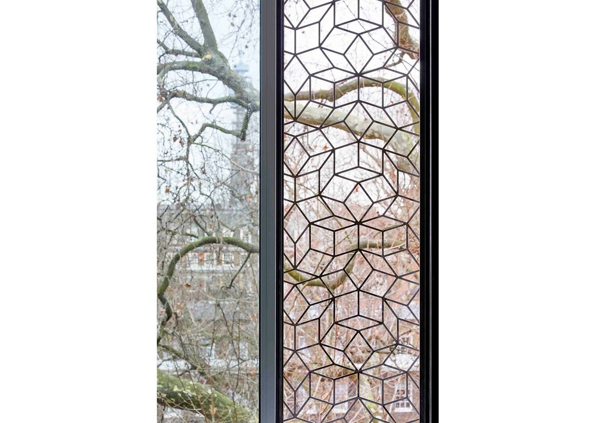 Security grilles to opening windows inspired by leaves.