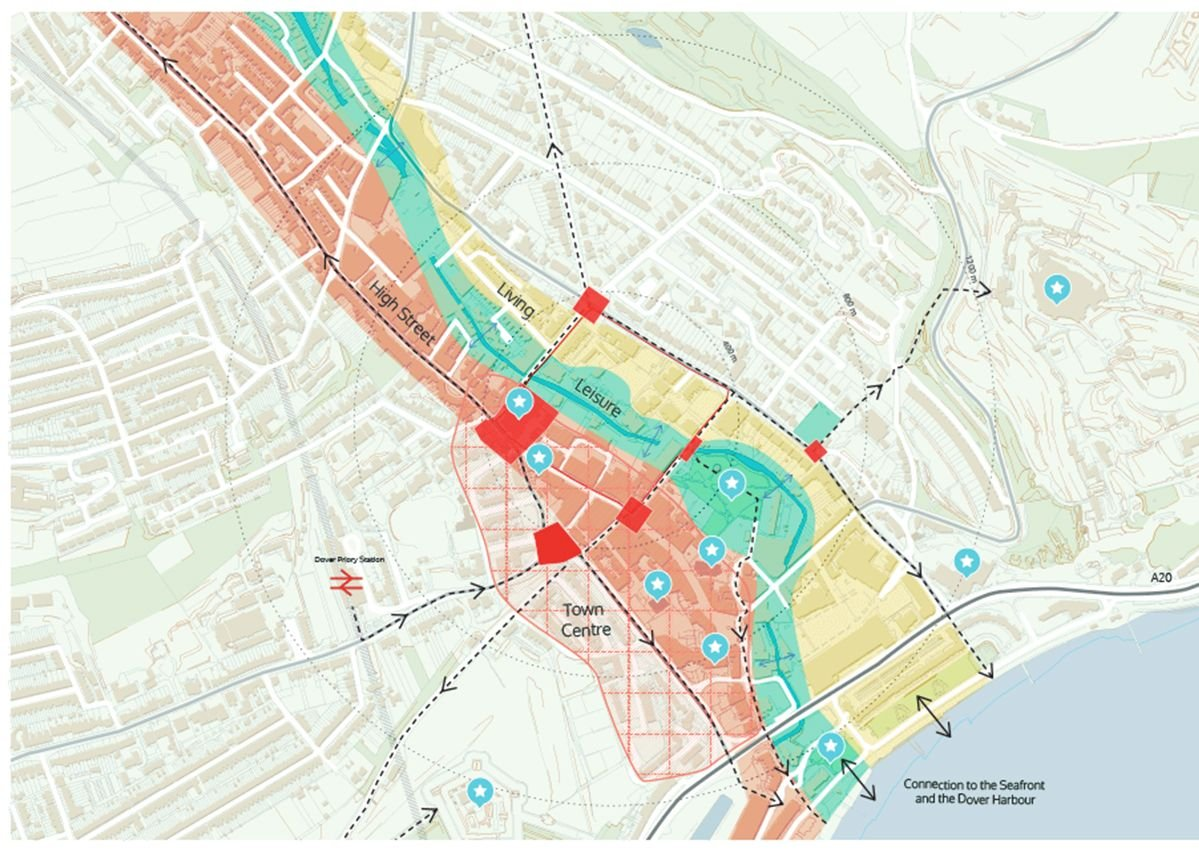 Periscope's masterplan showing proposed zoning of the town.