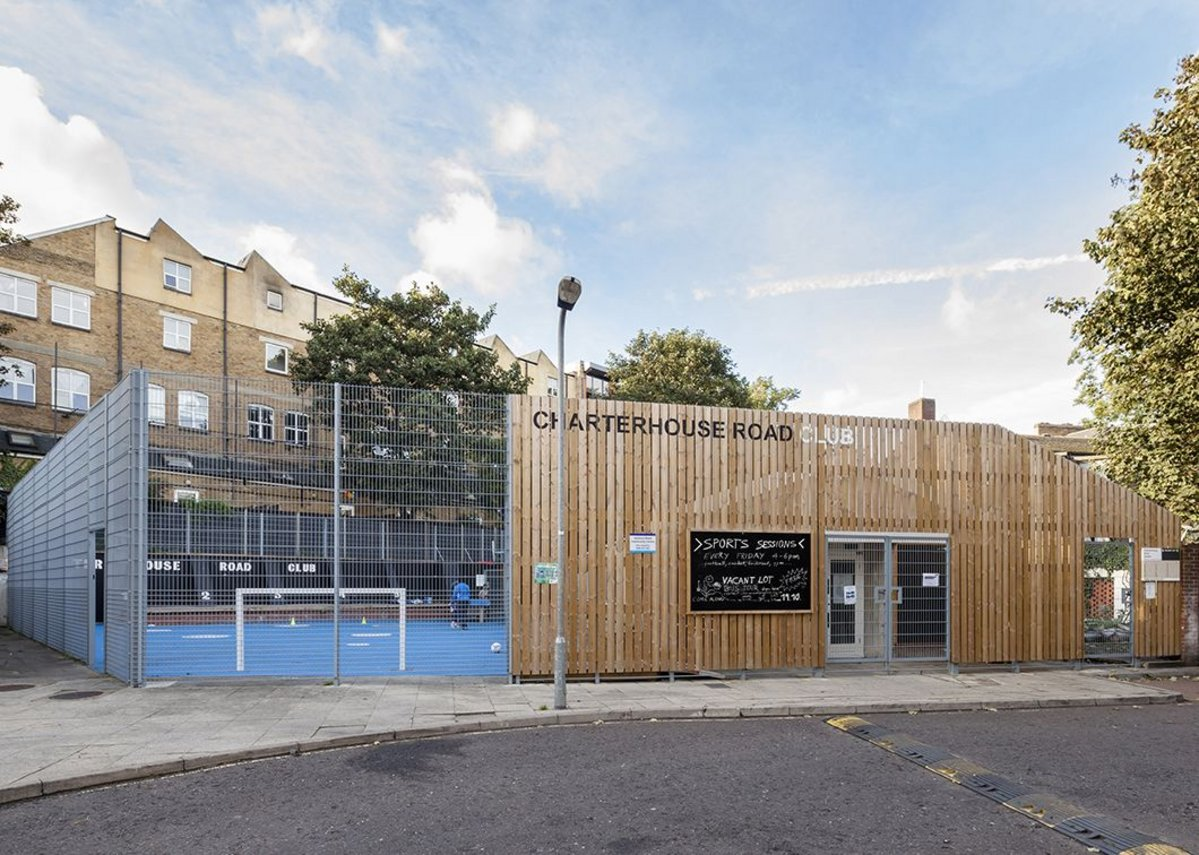 Charterhouse Road Club entrance and  new building.
