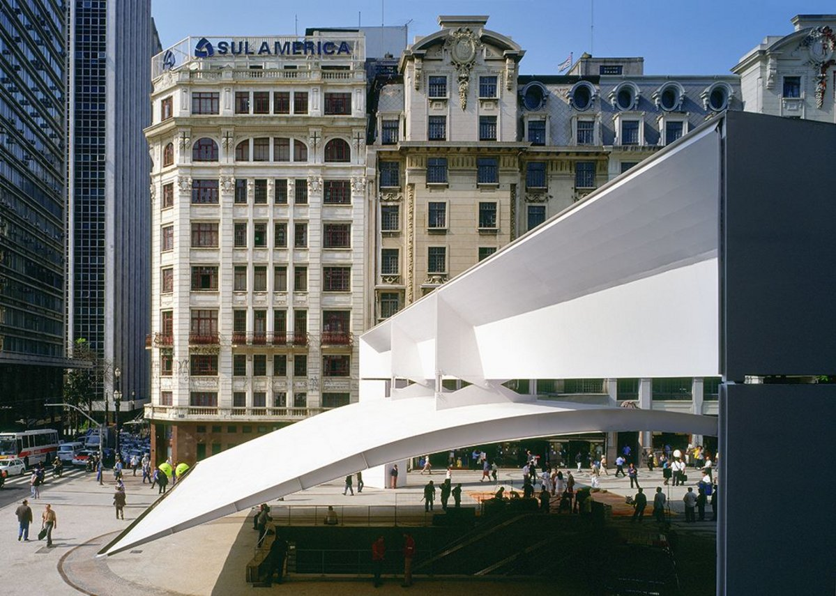 Patriach Plaza and access to the underground, Sao Paulo.