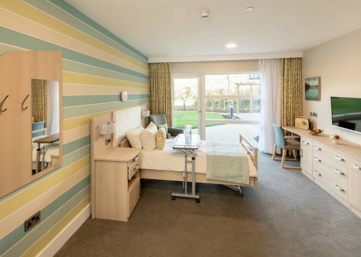 Bedroom interior at Casa di Lusso Care Home