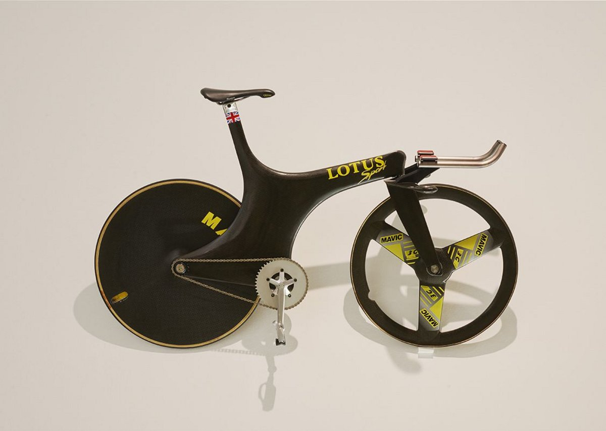 Chris Boardman's Lotus on which he won at the 1992 Barcelona Olympics.