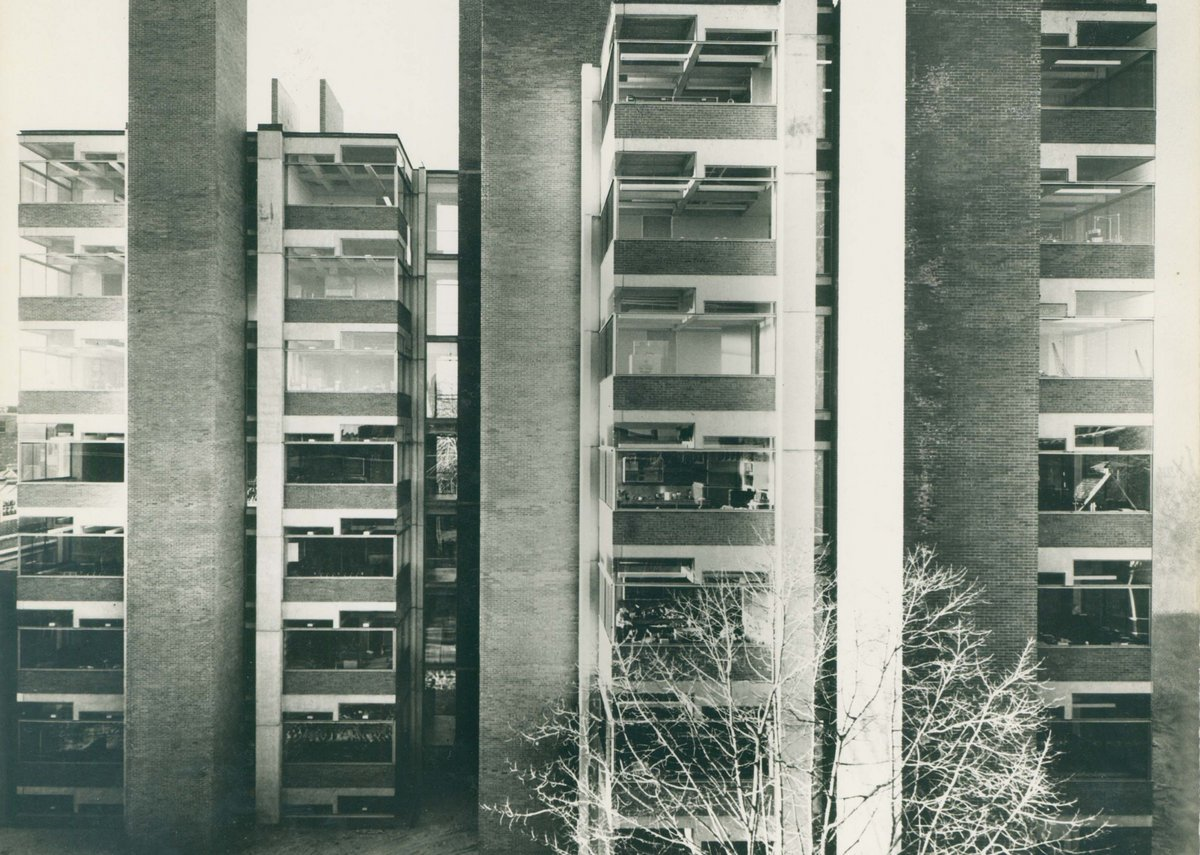 Medical Research and Biology Building, Philadelphia, Pennsylvania, 1957-65, University of Pennsylvania.