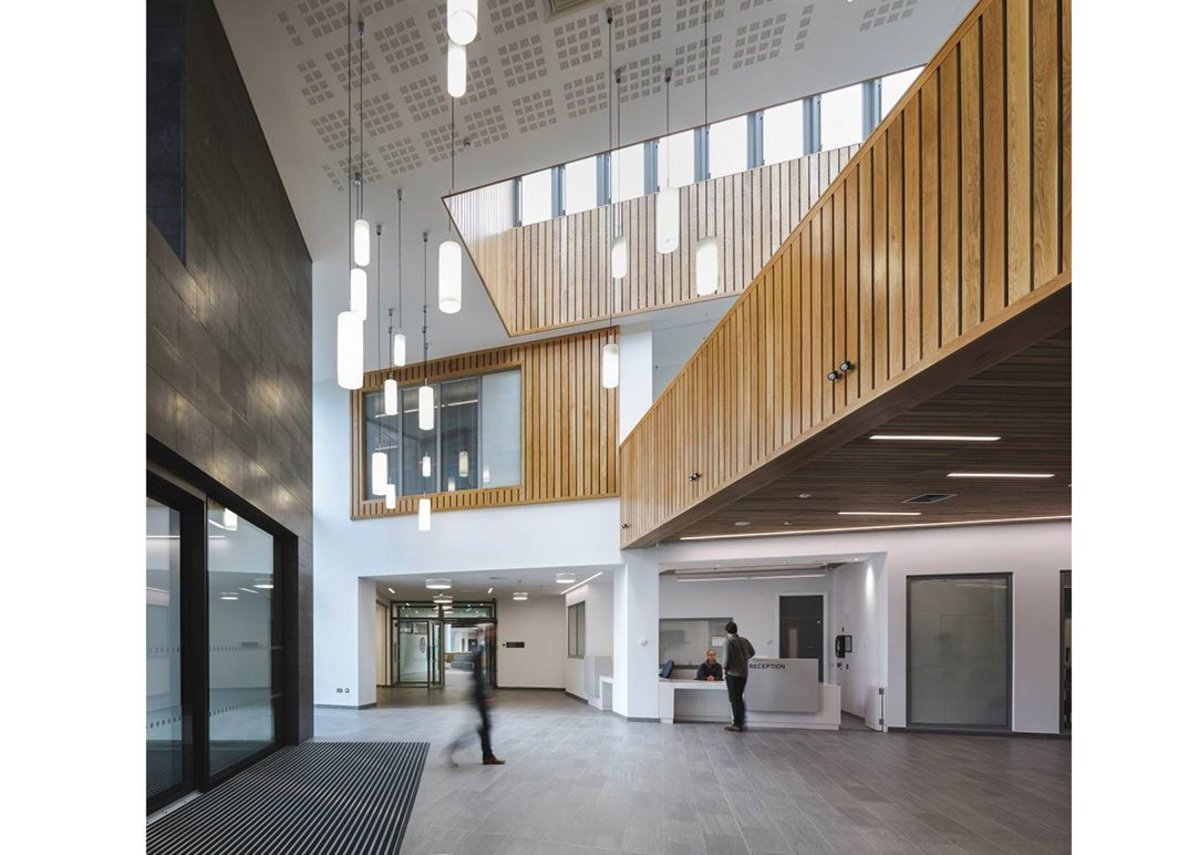 Warm welcome at Omagh Hospital: An engaged and informed relationship between the client, design and user teams, and the contractor has delivered an exemplary healthcare building.