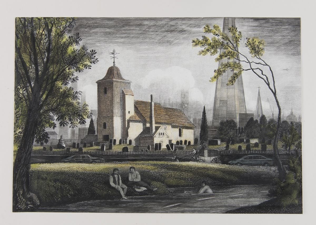 St Pancras Old Church and Fleet River.