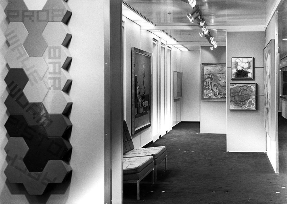 London Gallery on the QE2, from the exhibition QE2 50 Years Later at the Glasgow School of Art.
