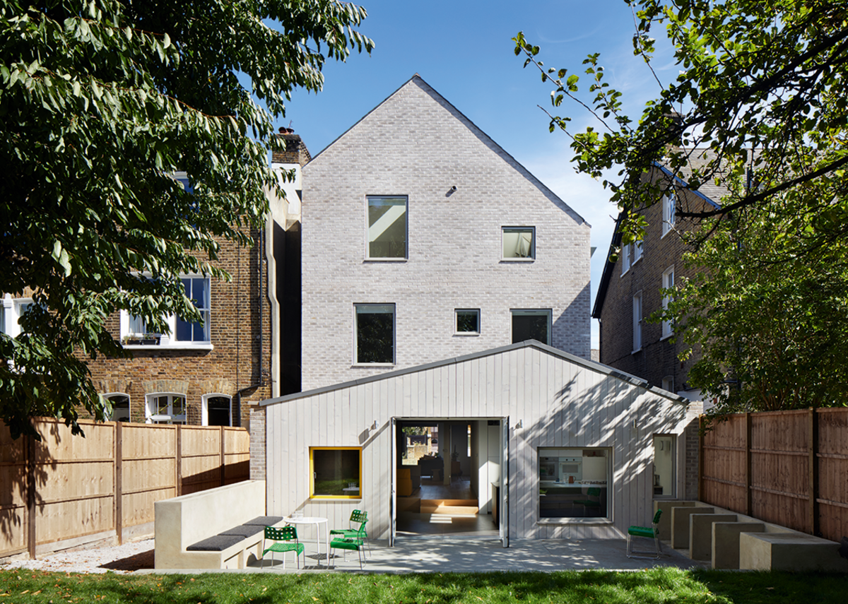 The rear elevation extends the ground floor plan into the large back garden.