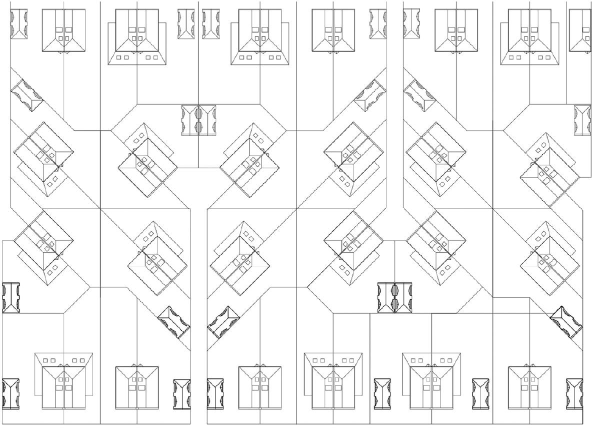 Villa Trio's design is envisaged as part of a wider suburban masterplan.