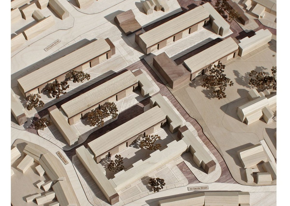 Model of slab blocks of Hillington Square.