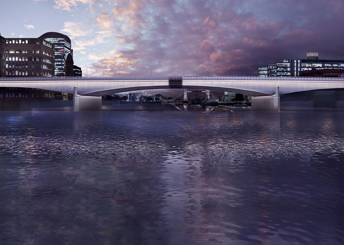 London Bridge – Magic Hour Nearing Completion.