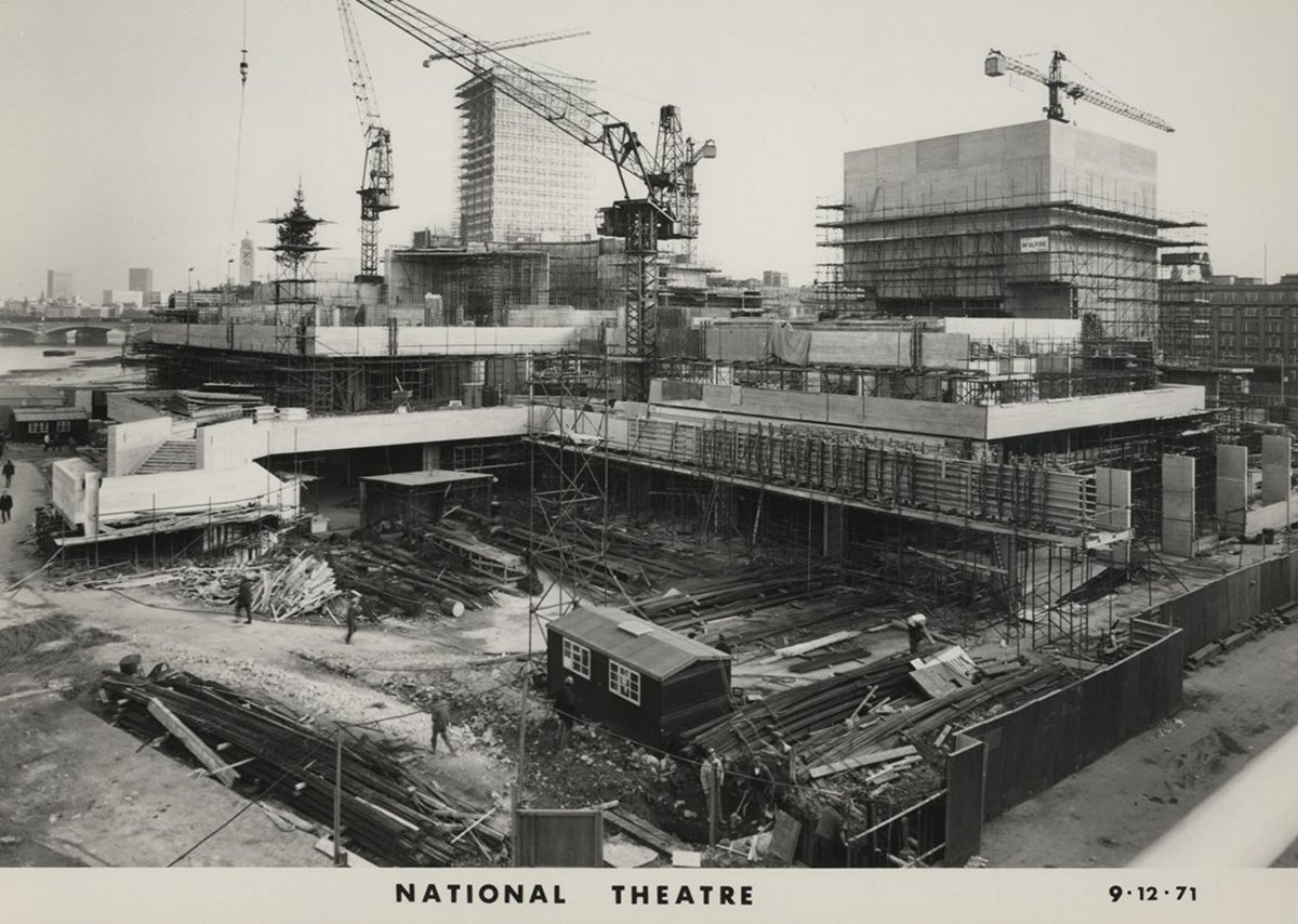 McAlpine shots of the construction of the National Theatre.
