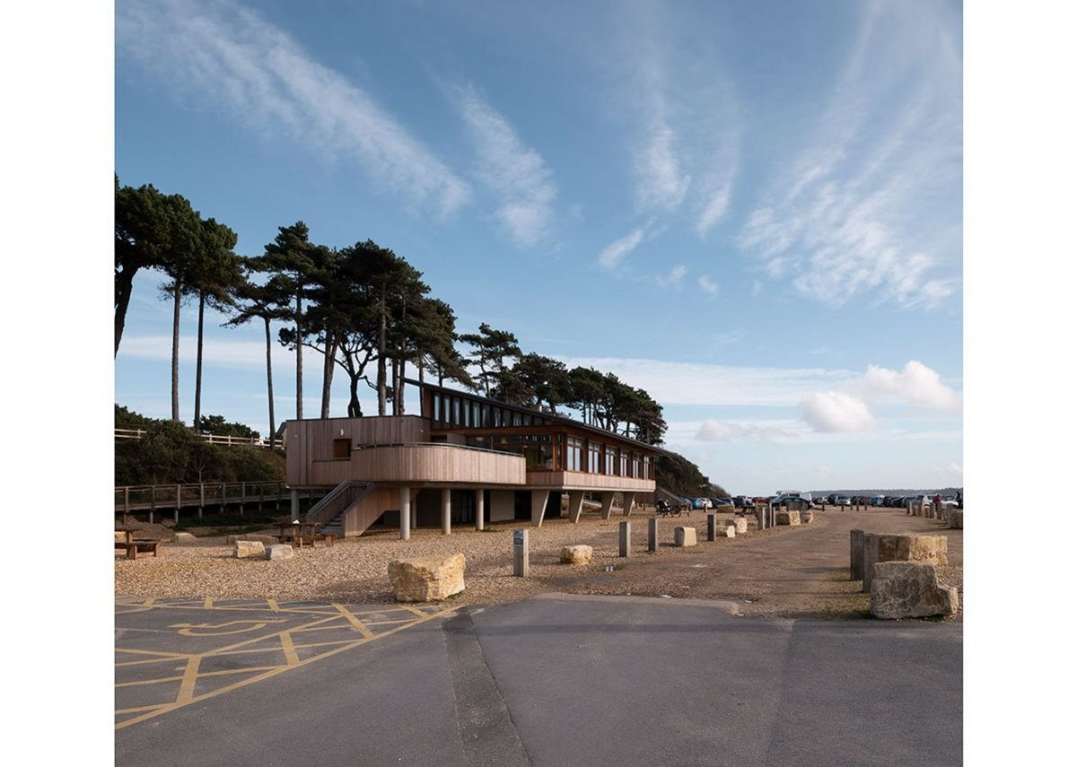 View from the west. The Lookout, Lepe Country Park by Hampshire County Council Property Services.