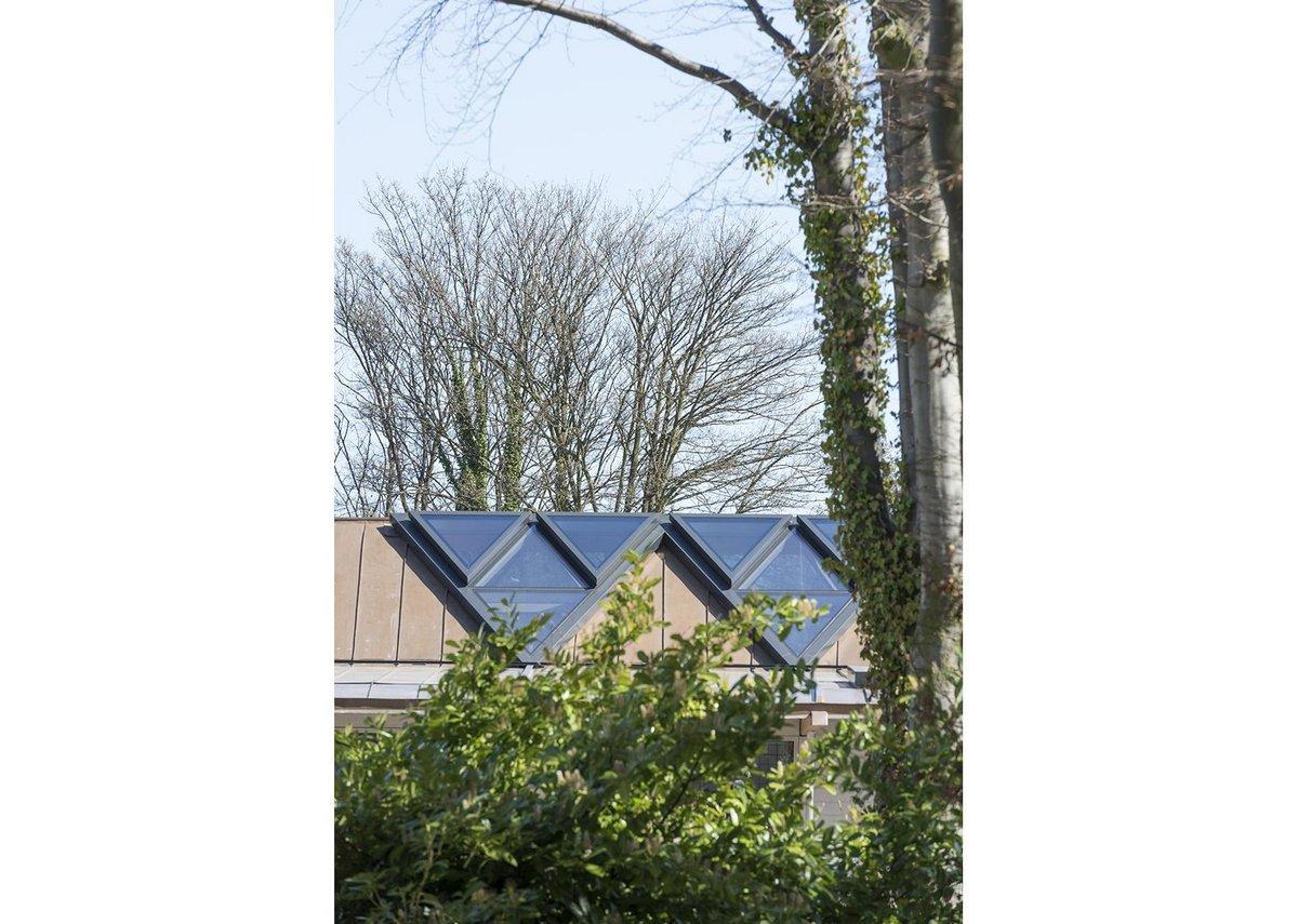A disciplined roof design.