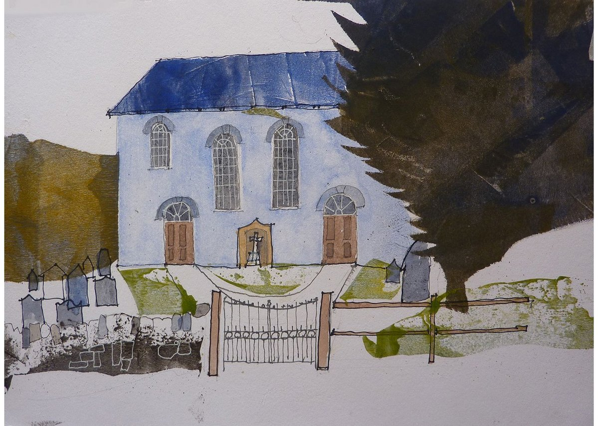 Chapel at Rhydlewis by Dick Evans, from the exhibition Dick Evans Welsh Chapels at MOMA, Machynlleth.