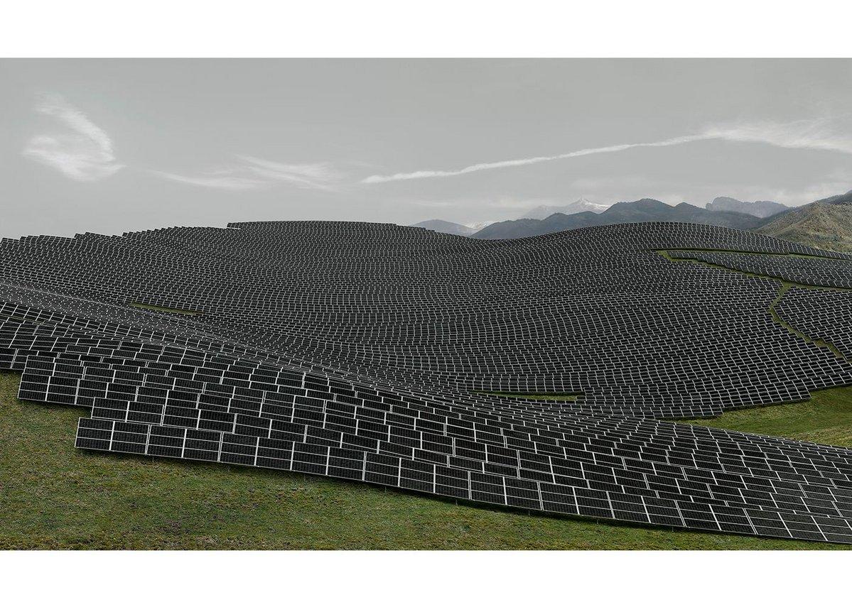 Andreas Gursky Les Mées, 2016 C-Print 220.9 x 367.2 x 6.2 cm