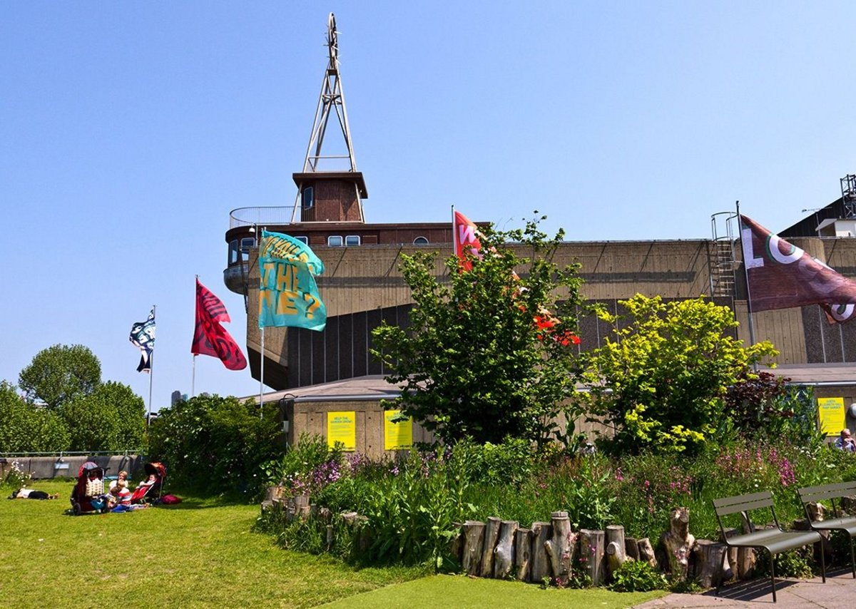 Pop-up garden at the Southbank's Queen Elizabeth Hall
