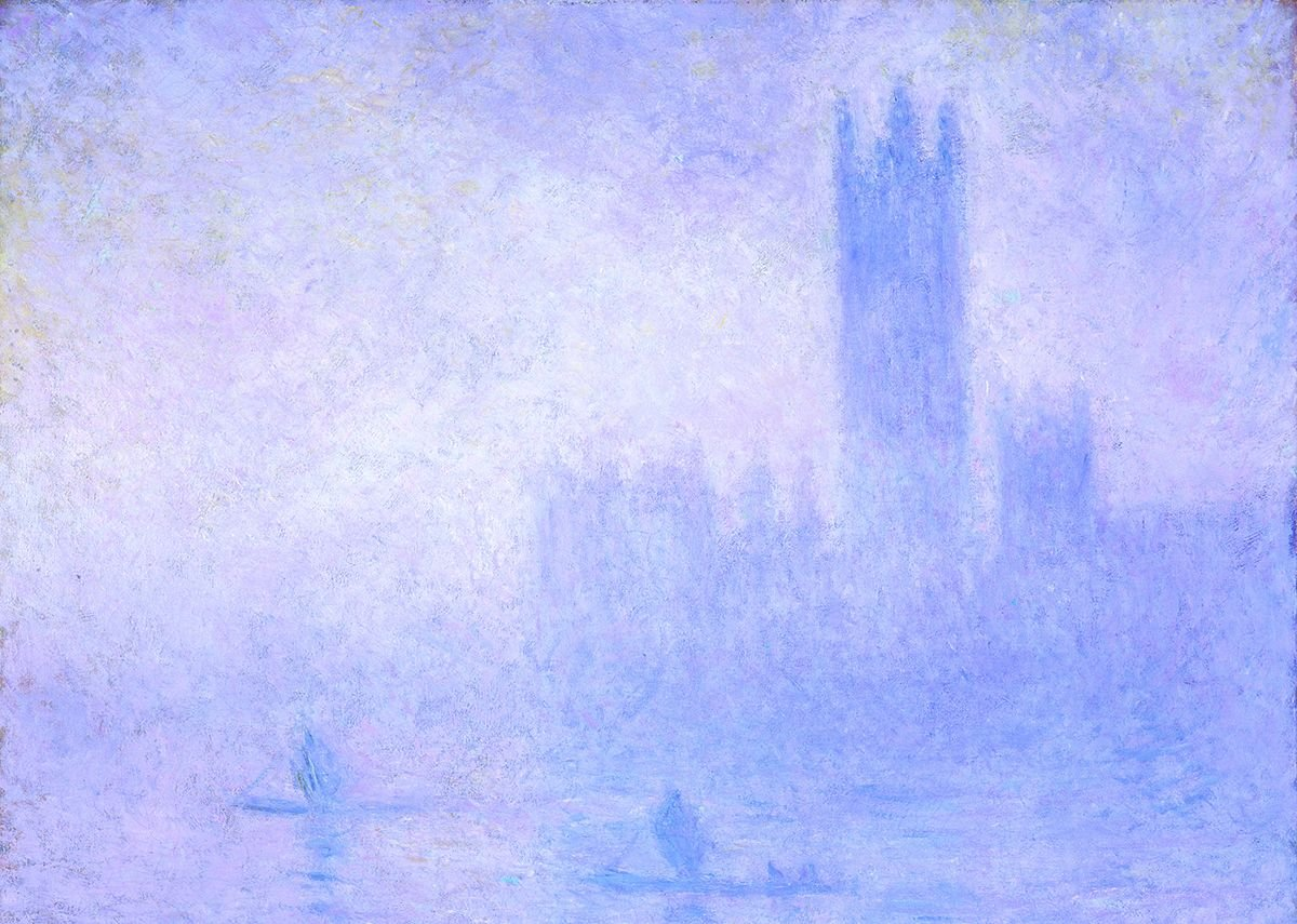 Claude Monet, The Houses of Parliament, Fog Effect (Le Parlement, effet de brouillard), 1904.