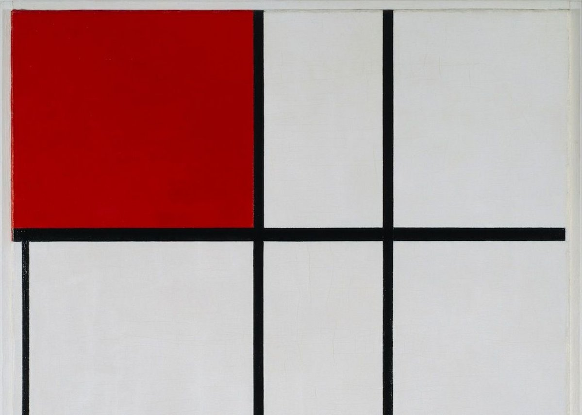 Piet Mondrian – Composition B (No. II) with Red, 1935.