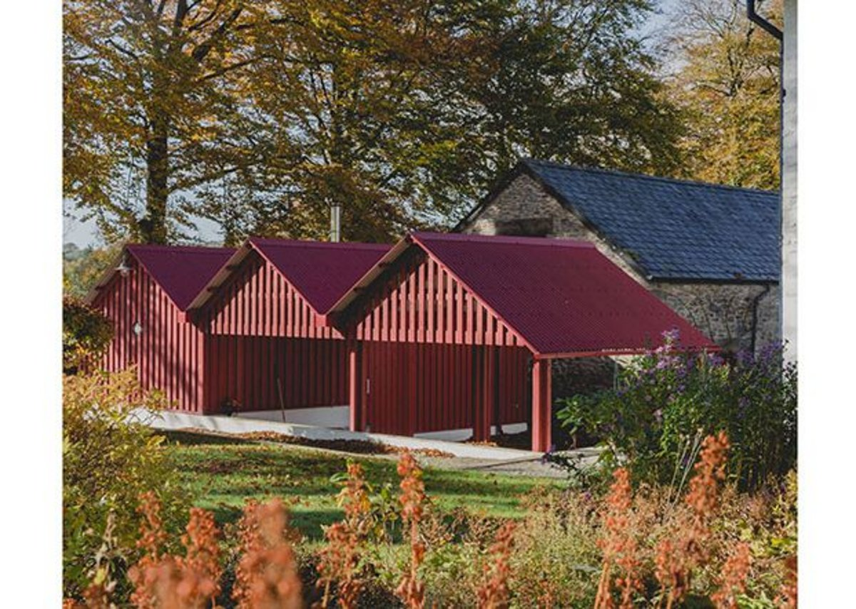 New interventions at Aeron Parc, Llangeitho making the farm work better, designed by Rural Office for Architecture.