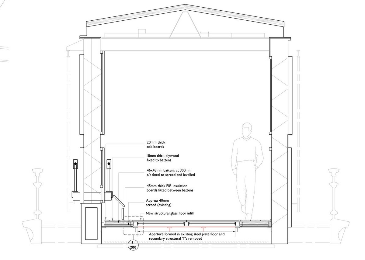 Design for walkway section.