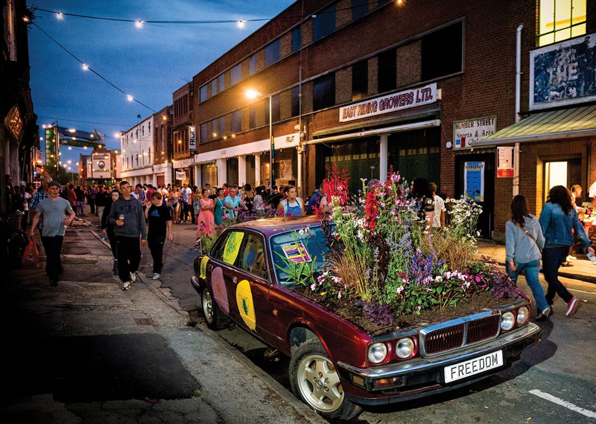 Humber Street during the Freedom Festival in 2012 before landscaping improvements.
