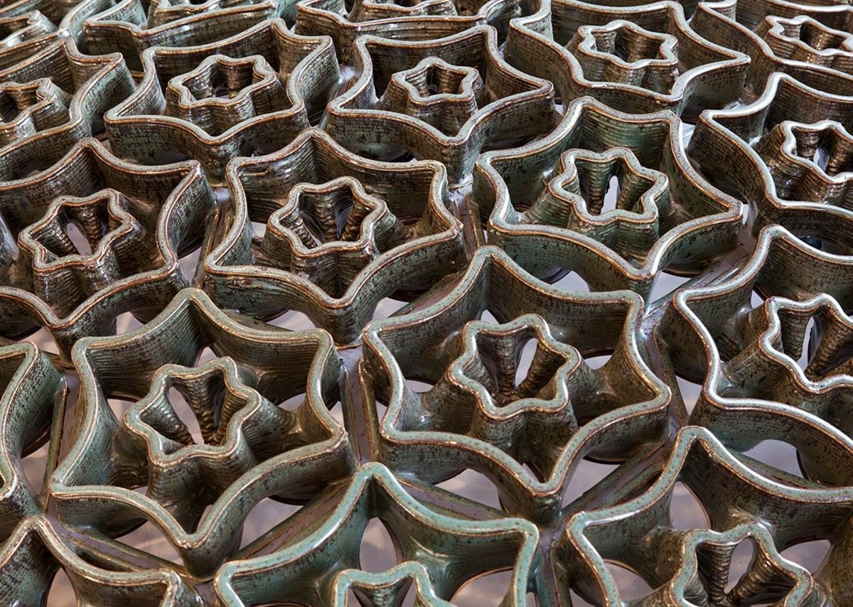 Detail of ceramic shell structure.