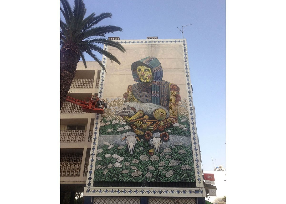 Self efficient world at the Jidar Festival, Rabat (Morocco).