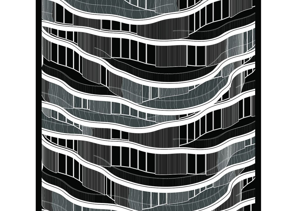 Montpellier Housing by Farshid Moussavi in black and white