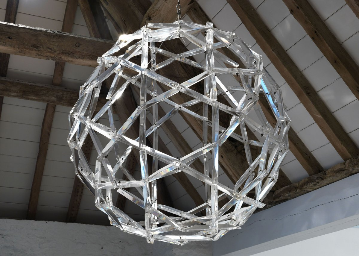 Buckminster Fuller geodesic Perspex chandelier made as a wedding present for Princess Margaret and Lord Snowdon, 1960.