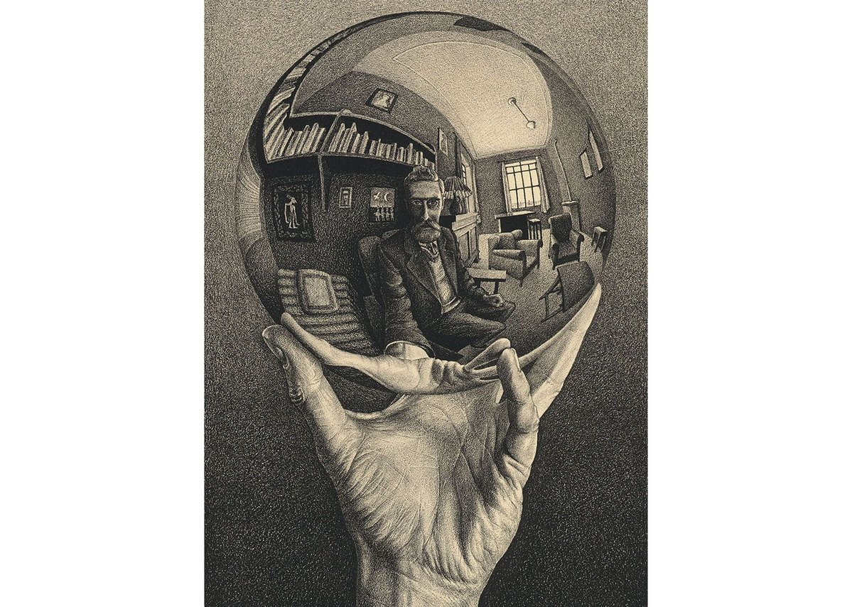 Hand with a Reflecting Sphere 1935.