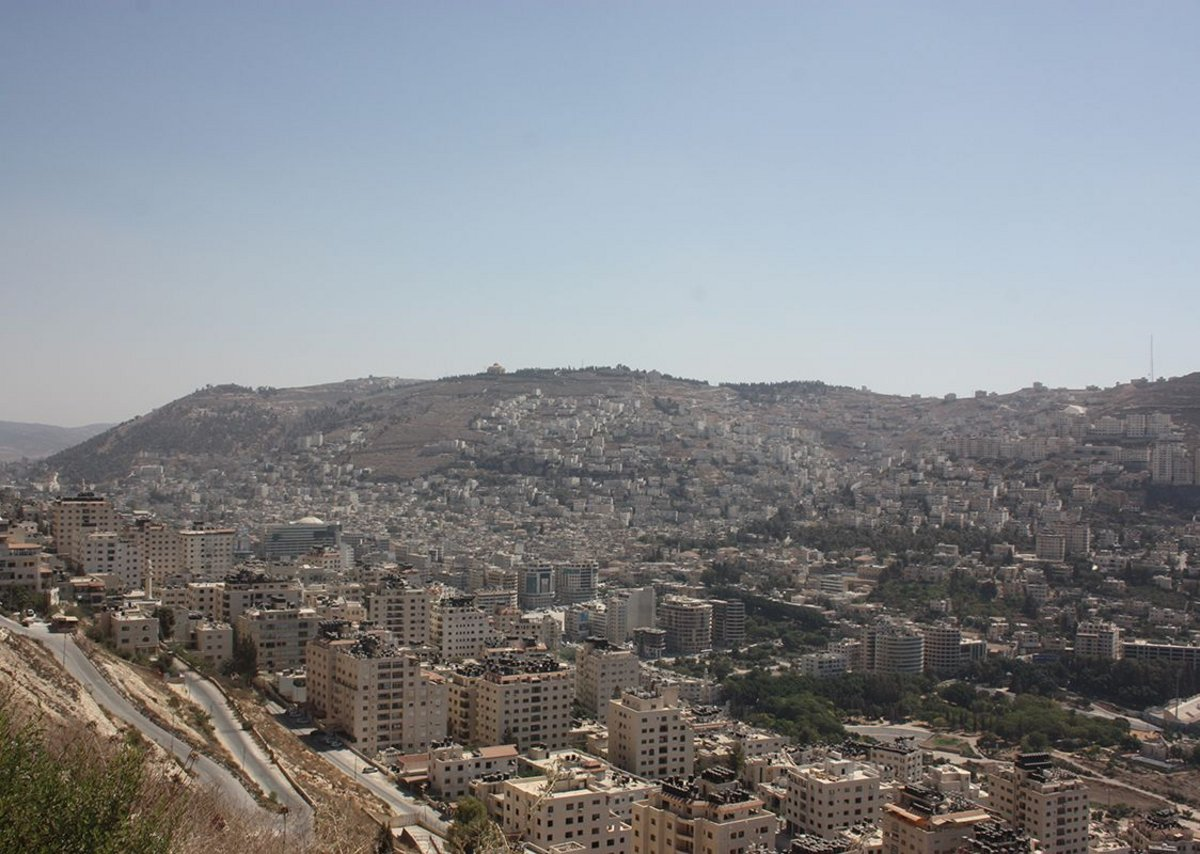 and Nablus centre from above.