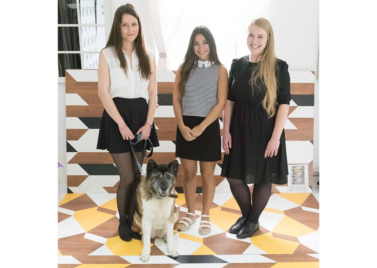 WHAT_Architecture team Anna Marta Scibior, Caline Masrehjian and Sarka Gulasiova with Chiba.