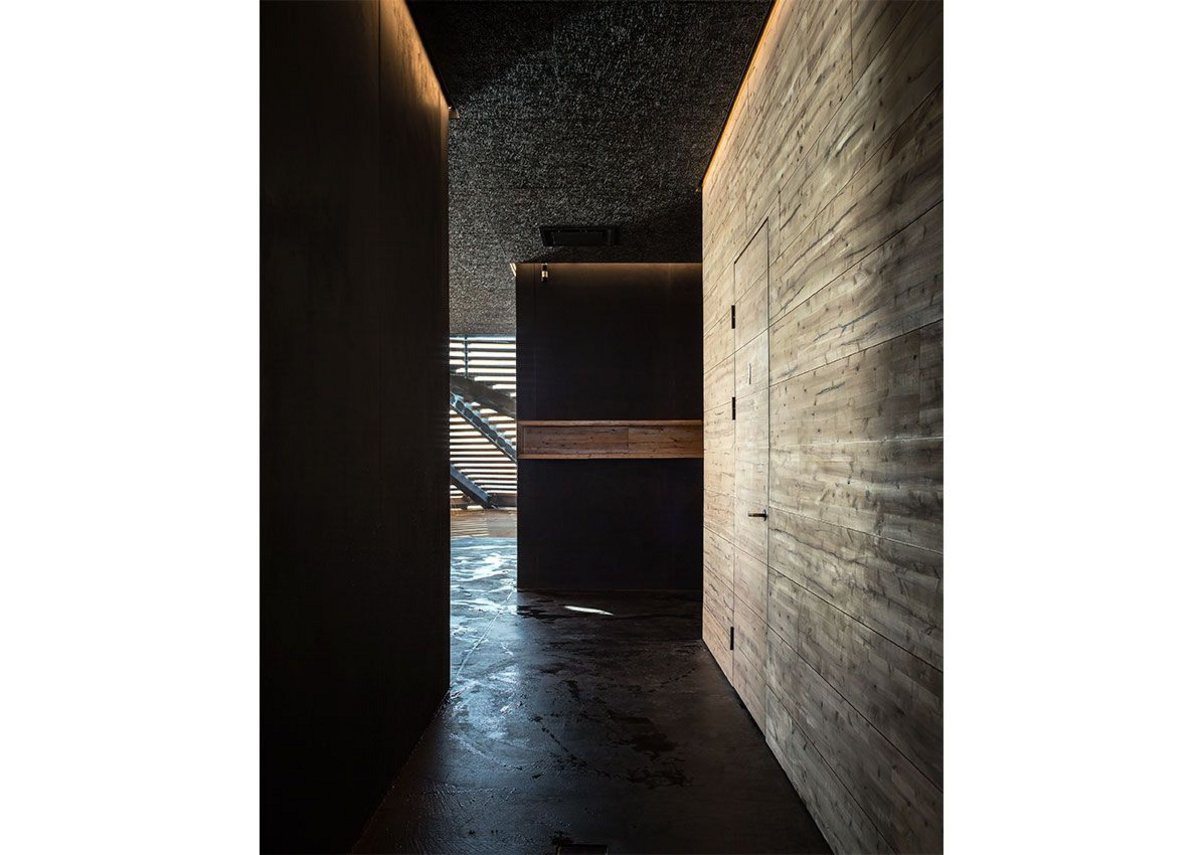 View into main sauna space