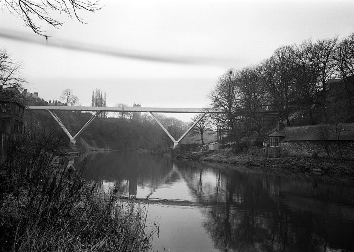 View of Kingsgate Bridge Durham 1963