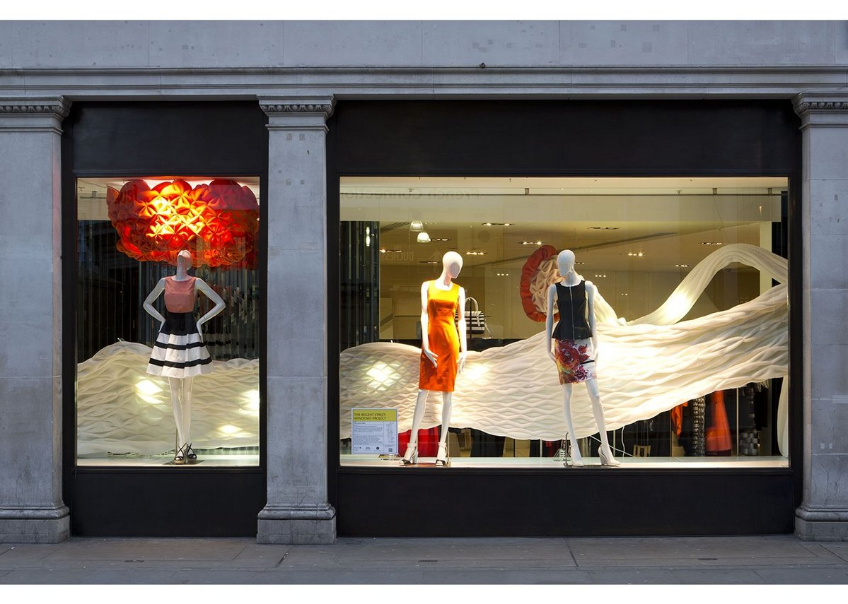 The Karen Millen window design completed  by Mamou-Mani Architects using digital fabrication.