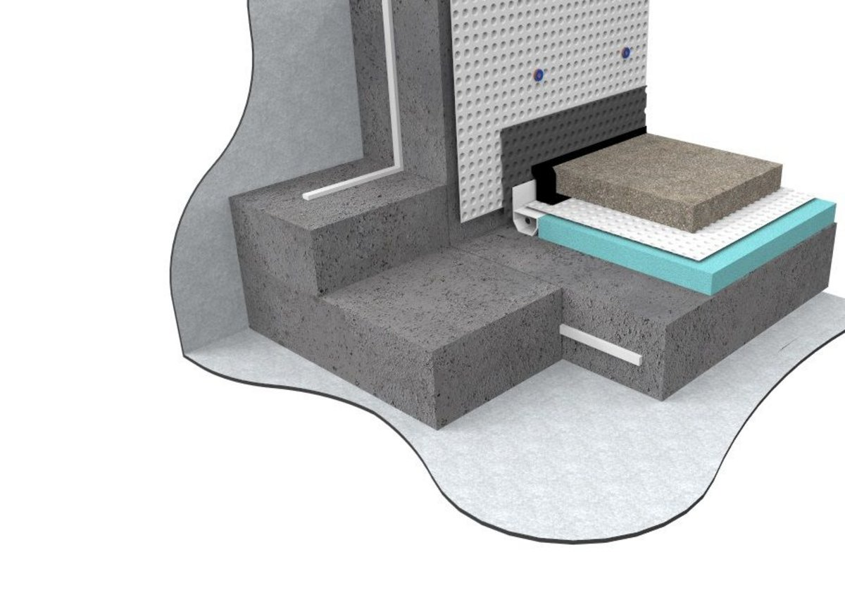 The three types of waterproofing combine to create a dry Grade 3 internal environment with an NWI score of 3.3 - 3.6