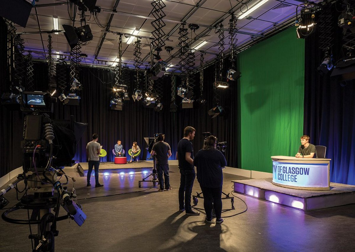 Industry standard TV and radio studios including Scotlands second largest broadcast studio